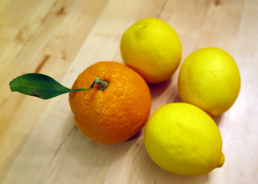 Satsuma orange with 'Meyer' lemons.